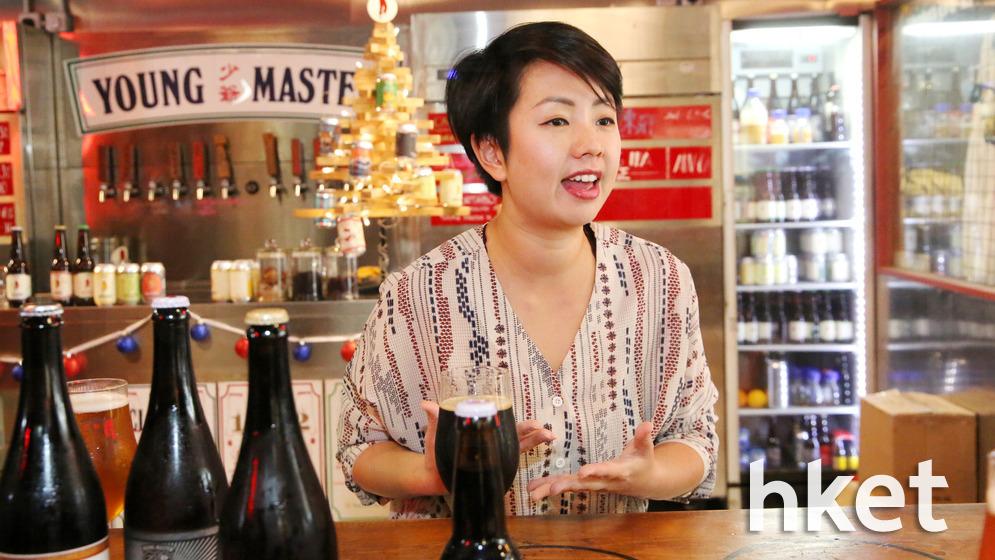 少爺啤亞太地區品牌大使盧彥婷表示,雖然大品牌啤酒成本低、產量高,但現時消費者多追求獨特性,因此喜愛手工啤酒,市場競爭亦愈來愈激烈。(陳國峰攝)