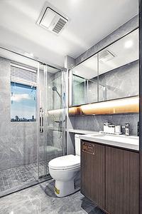 浴室設計以實用簡潔為主(代理提供圖片)