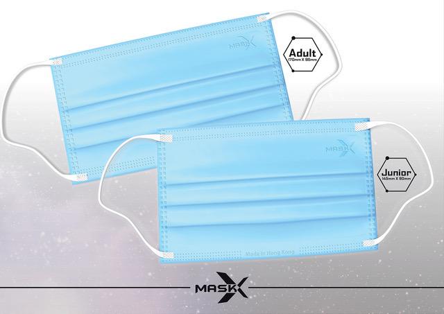 Mask X 口罩藍色款,配白帶設計