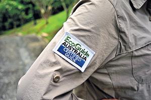 Sheron考獲EcoGuide生態導賞員專業資格後,主要在綠恒生態旅遊及其他保育機構工作。(被訪者提供)