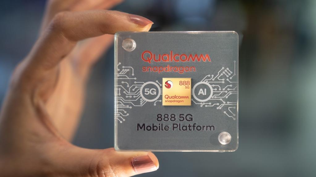 高通早前正式发布Snapdragon 888旗舰5G手机平台,将获最少14间手机厂商采用。 (网上截图)