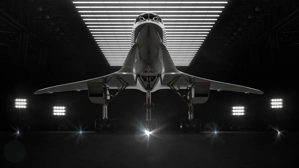 该超音速客机仍处于设计阶段,按比例缩小的原型机XB-1计划于明年试飞,2022年兴建全尺寸飞机的制造工厂,2026年之前为其第一架商用飞机作试飞,超音速飞行服务将于2029年正式开始。 (Boom网站图片)