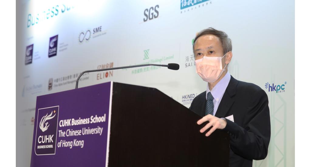 盧永鴻教授分享,在疫情中有中小企就大眾對防疫產品的需求而改良產品,在發掘商機的同時,照顧到大眾的需要。